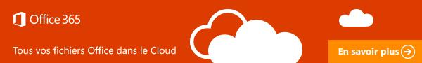 Tous vos fichiers Office dans le Cloud